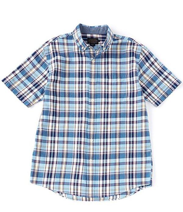 ペンドルトン レディース シャツ トップス Madras Plaid Multi-Color Short-Sleeve Woven Shirt Blue Multi Plaid