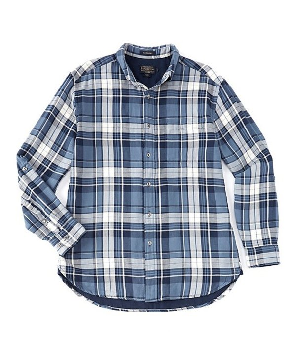 ペンドルトン レディース シャツ トップス Fairbanks Long-Sleeve Woven Shirt Blue/Navy Herringbone Plaid