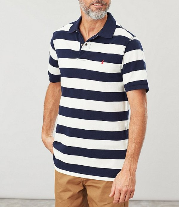 ジュールズ レディース シャツ トップス Short-Sleeve Filbert Striped Polo Navy/Cream Stripe