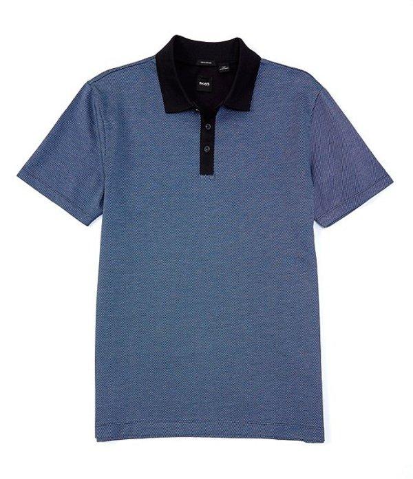 ヒューゴボス レディース シャツ トップス BOSS Piket Short-Sleeve Polo Shirt Navy