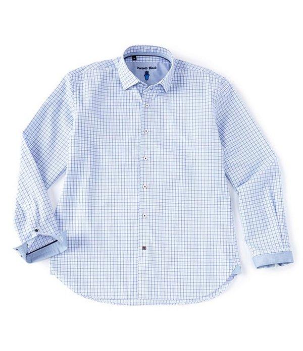 ビスコッティ レディース シャツ トップス Tattersall Pattern Long-Sleeve Woven Shirt Blue