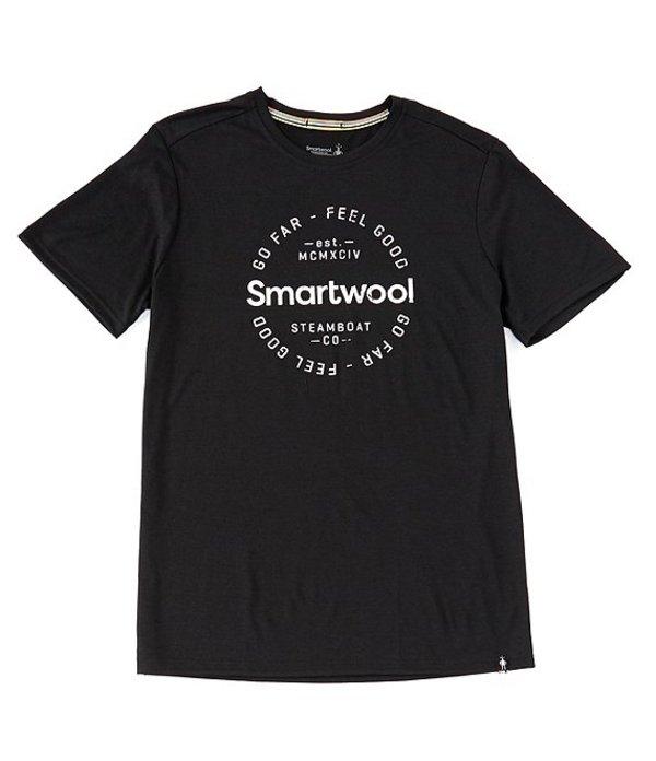 スマートウール レディース シャツ トップス Smartwool Merino Sport 150 Go Far Feel Good Short-Sleeve Tee Black