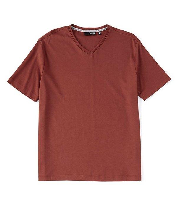 ムラノ レディース シャツ トップス Liquid Luxury Solid Short-Sleeve V-Neck Tee Burnt Orange
