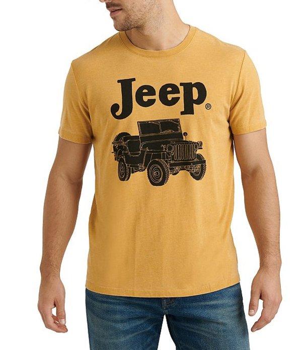 ラッキーブランド レディース シャツ トップス Jeep Short-Sleeve Graphic T-Shirt Dusty Gold