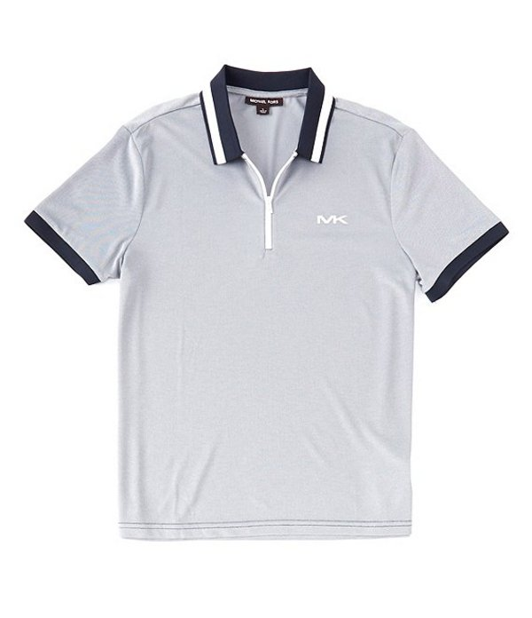 マイケルコース レディース シャツ トップス Birdseye Short-Sleeve Polo Shirt Dark Midnight