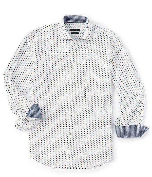 ブガッチ レディース シャツ トップス Shaped-Fit 3D Cube Print Long-Sleeve Woven Shirt Candy