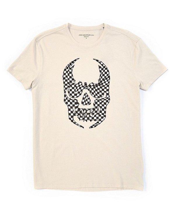 ジョンバルベイトス レディース シャツ トップス Star USA Skull Applique Short-Sleeve Tee Zinc