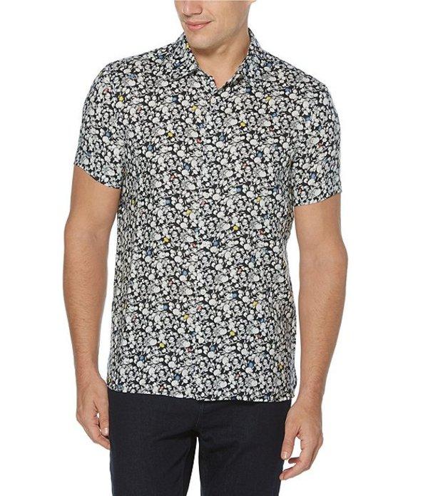 ペリーエリス レディース シャツ トップス Fruit Print Linen Short-Sleeve Woven Shirt Dark Sapphire