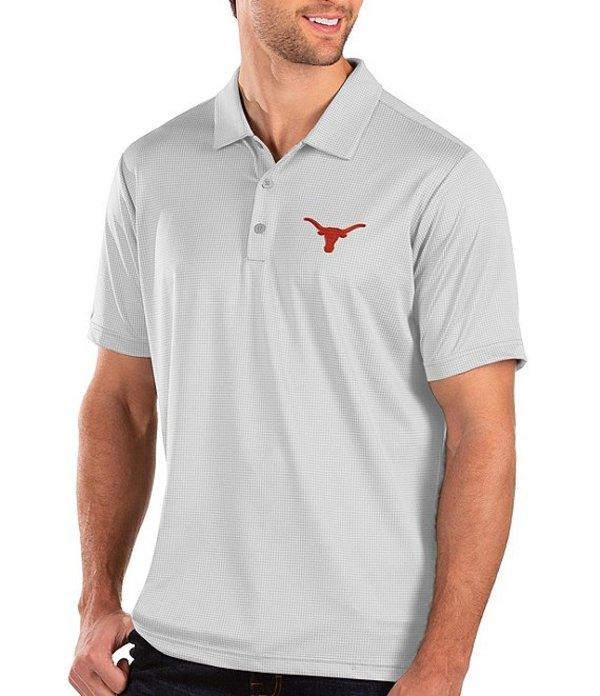 アンティグア レディース シャツ トップス NCAA Balance Short-Sleeve Polo Shirt Texas Longhorns White