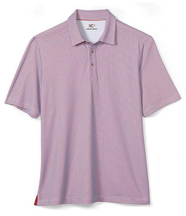 ジョンストンアンドマーフィー レディース シャツ トップス XC4 Star Print Short-Sleeve Polo Shirt Red
