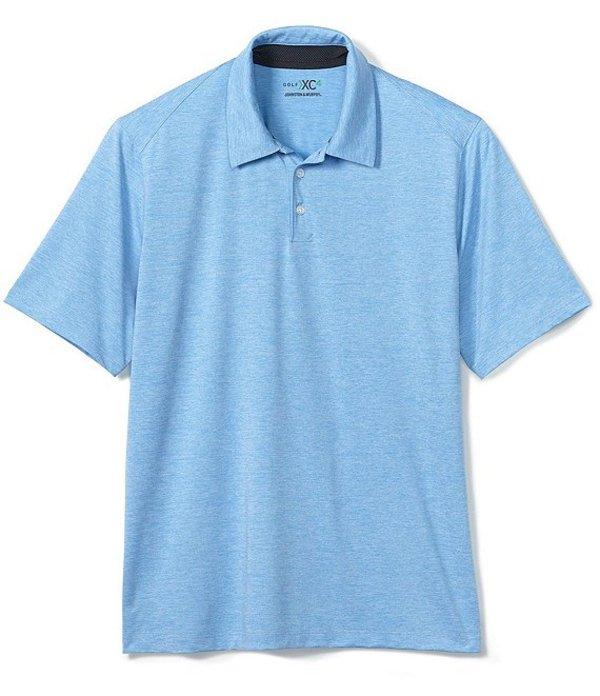 ジョンストンアンドマーフィー レディース シャツ トップス XC4 Solid Stretch Short-Sleeve Golf Polo Shirt Blue