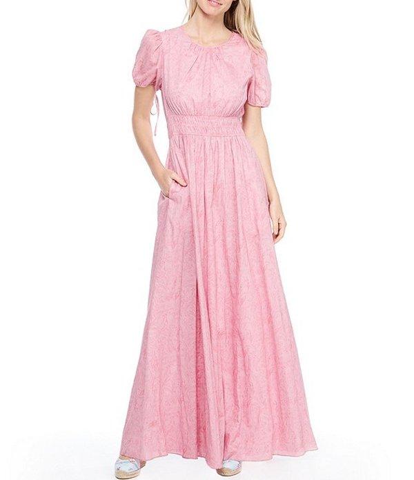 ギャルミーツグラム レディース ワンピース トップス Giselle Smocked Waist Maxi Dress Pink/Blush