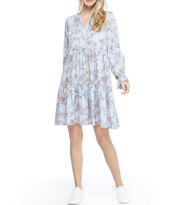 ギャルミーツグラム レディース ワンピース トップス Allie Tiered Floral Print Shift Dress Mist/Green