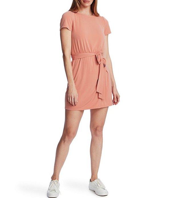 ワンステート レディース ワンピース トップス Short Sleeve Tie Waist Dress Romantic Apricot