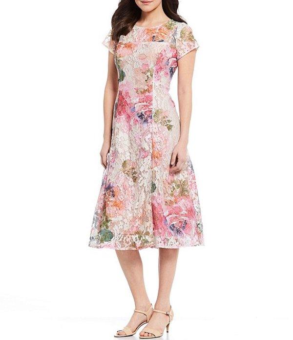 イグナイト レディース ワンピース トップス Floral Sequin Lace Midi Dress Pink Multi