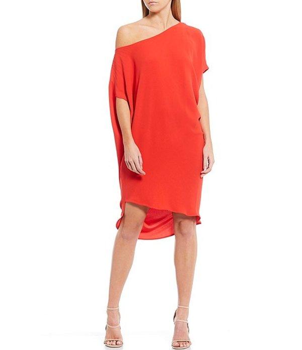 トリーナターク レディース ワンピース トップス Radiant Asymmetric Off-the-Shoulder Dress Red Hot