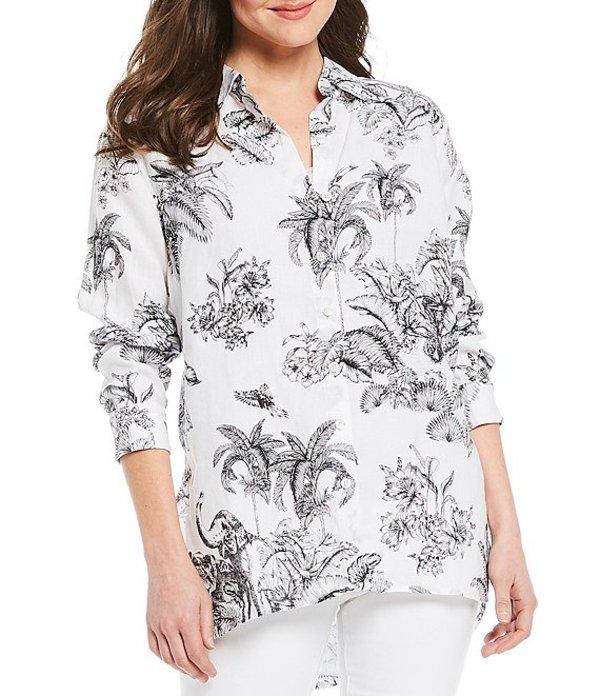 トッミーバハマ レディース シャツ トップス Toille Of The Wild Long Sleeve Linen Shirt Black