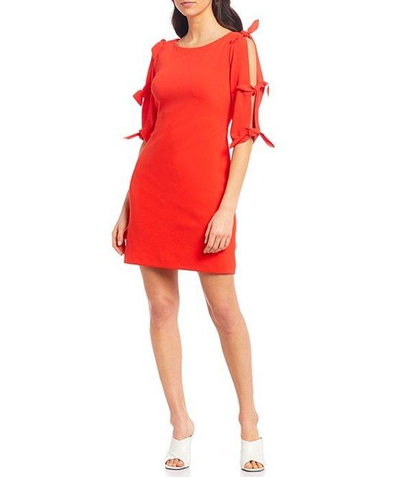 ヴィンスカムート レディース ワンピース トップス Tie Bell Sleeve Crepe Ponte Shift Dress Bright Ladybug