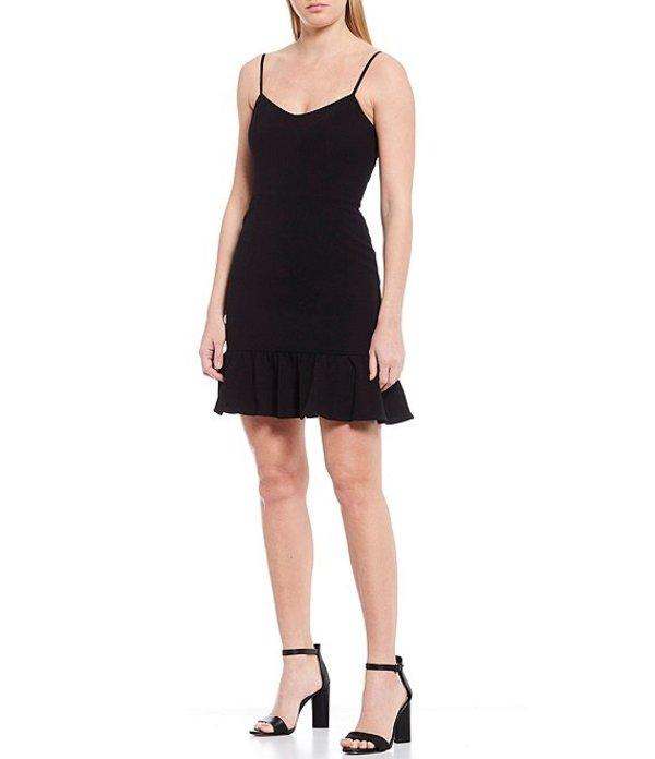 ドレスザポプレーション レディース ワンピース トップス Mira Ruffle Flounce Sleeveless Mini Dress Black
