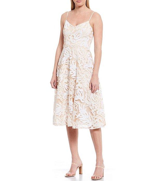 ドレスザポプレーション レディース ワンピース トップス Layla Sequin Embroidered Midi Dress Off White