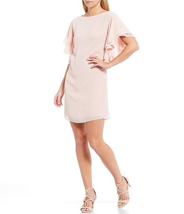 ヴィンスカムート レディース ワンピース トップス Ruffled Short Sleeve Shift Dress Blush