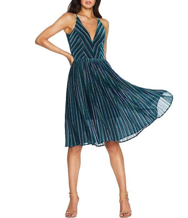 ドレスザポプレーション レディース ワンピース トップス Hayley Metallic Sleeveless V-Neck Midi Dress Electric Blue