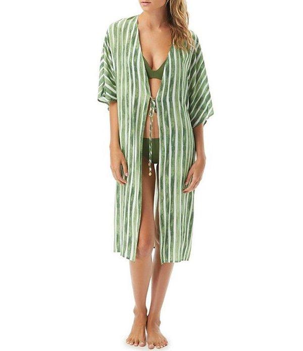 ヴィンスカムート レディース ワンピース トップス Hammock Stripe Maxi Kimono Cover Up Fern