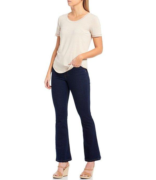 エーラブズエー レディース Tシャツ トップス Knit Jersey Stripe Tee Beige WhiteNwX0PnO8kZ