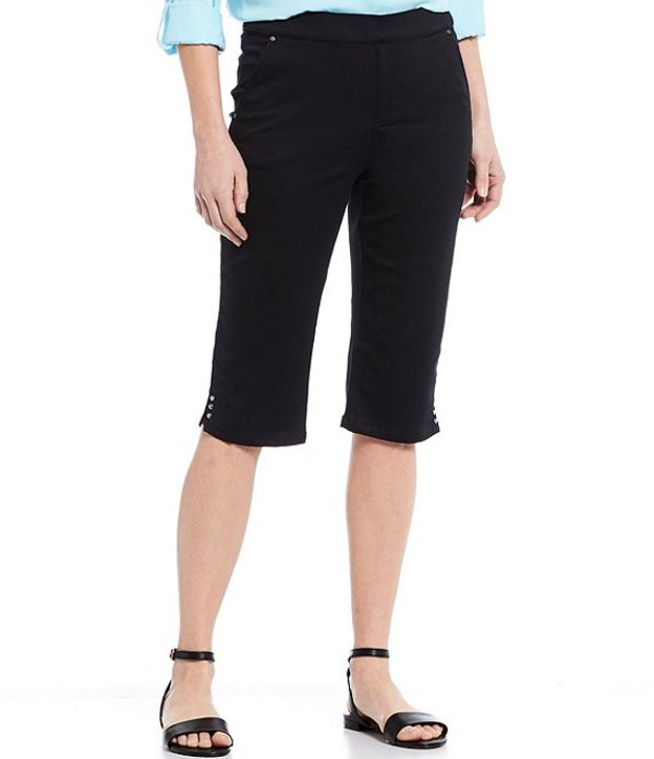 イントロ レディース カジュアルパンツ ボトムス Rose Tummy Panel Cotton Blend Pull-On Skimmer Ebony Black