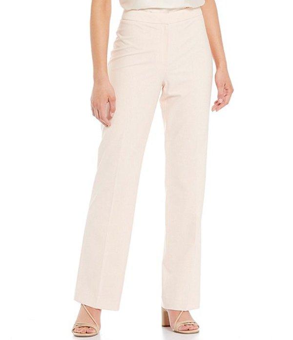 アントニオ メラーニ レディース デニムパンツ ボトムス Tilda Stretch Crosshatch Suiting Straight Leg Pants Pink Sand
