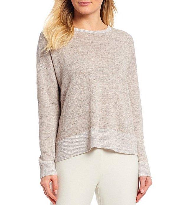 エイリーンフィッシャー レディース Tシャツ トップス Organic Linen Melange Round Neck Sweater Box Top Bramble