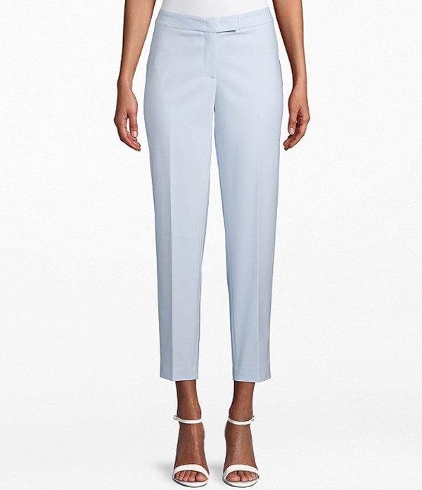アンクライン レディース デニムパンツ ボトムス Cotton Double Weave Slim Leg Pant Blue Ridge