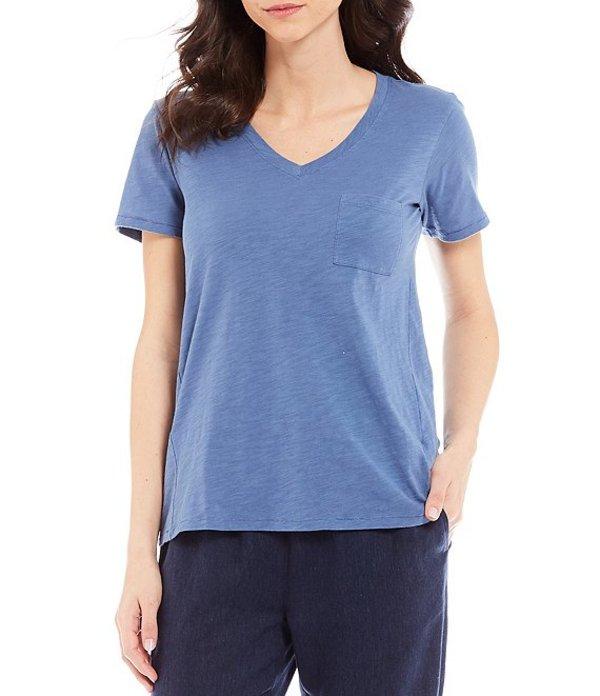 ペンドルトン レディース Tシャツ トップス V-Neck Short Sleeve Front Pocket Cotton Tee Blue Horizon
