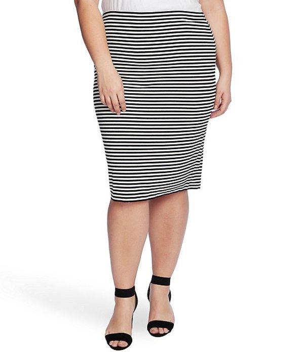 ヴィンスカムート レディース スカート ボトムス Plus Size Striped Tube Skirt Rich Black