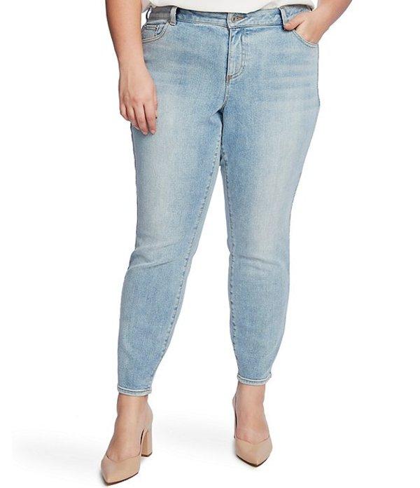 セセ レディース デニムパンツ ボトムス Plus Size Lace Side Skinny Ankle Jeans Soft Blue Bella