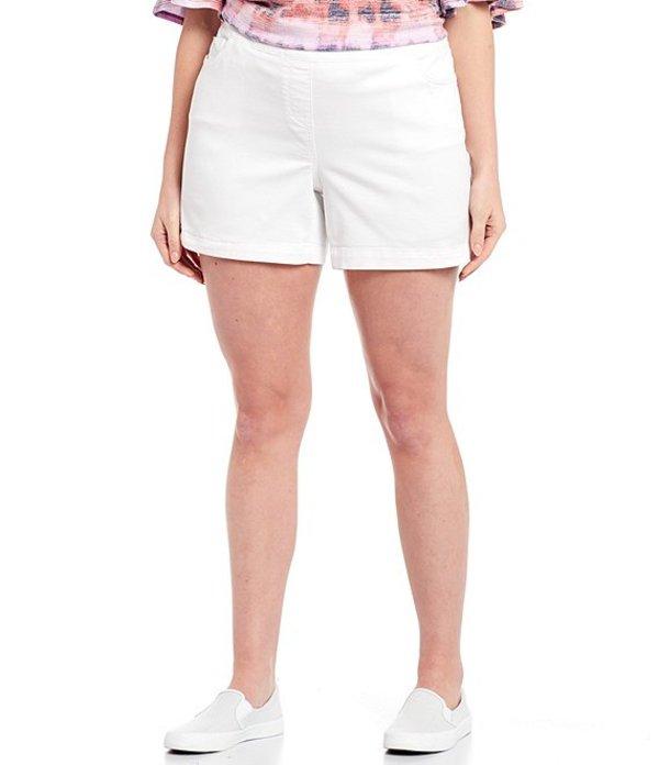 ウエストバウンド レディース ハーフパンツ・ショーツ ボトムス Plus Size the PARK AVE fit Shorts White