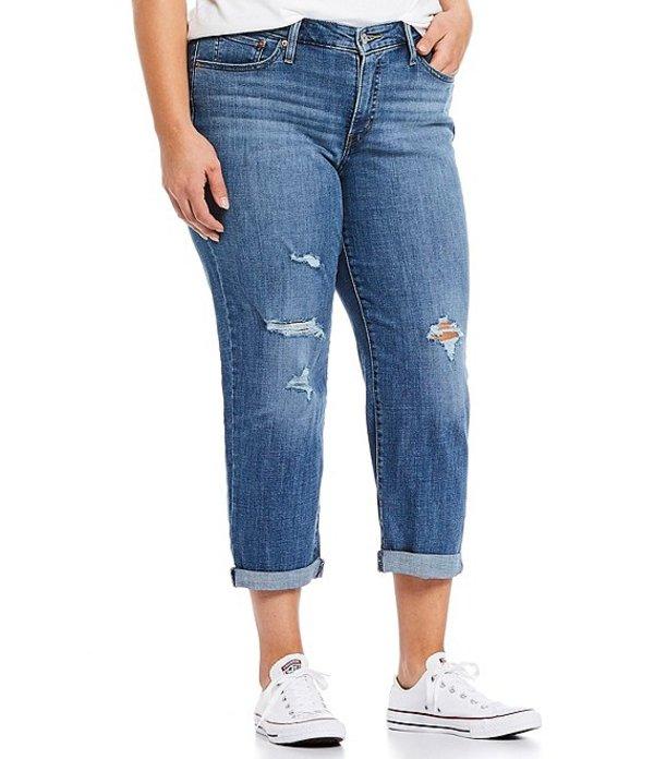 リーバイス レディース デニムパンツ ボトムス Levi'sR Plus Size Distressed Crop Boyfriend Jeans Hawaii Blue