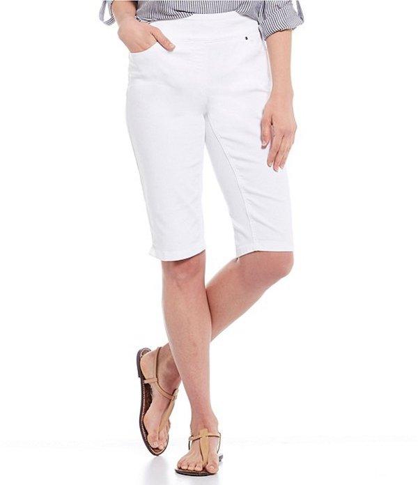 ウエストバウンド レディース カジュアルパンツ ボトムス Petite Size the PARK AVE fit Cotton Blend Skimmer White
