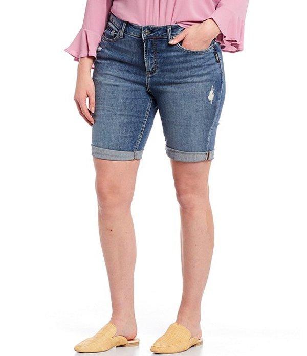 シルバー ジーンズ レディース ハーフパンツ・ショーツ ボトムス Plus Size Avery Bermuda Shorts Indigo