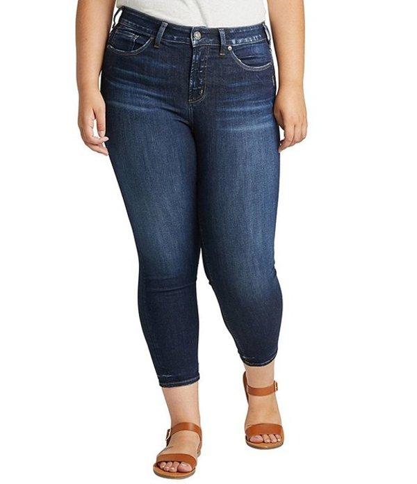 シルバー ジーンズ レディース デニムパンツ ボトムス Plus Size Avery High Rise Curvy Fit Skinny Crop Jeans Indigo