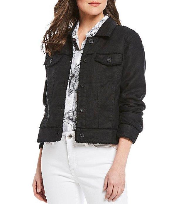 トッミーバハマ レディース ジャケット・ブルゾン アウター Two Palm Raw Edge Point Collar Button Front Jacket Black