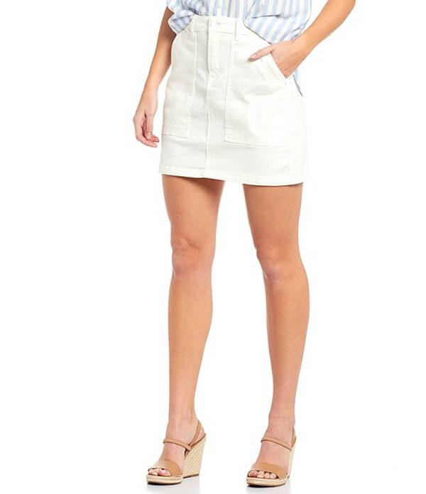 エーラブズエー レディース スカート ボトムス Denim Utility Mini Skirt Off White