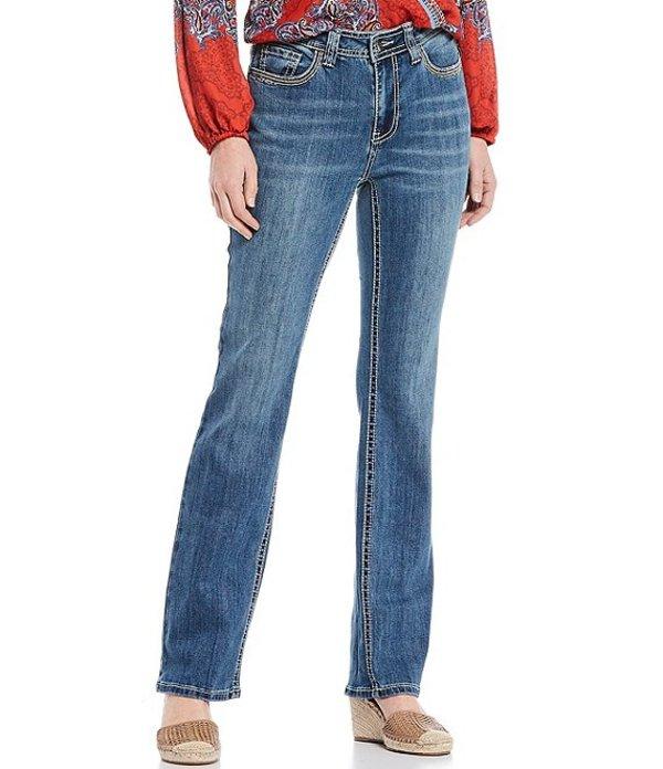 レバ レディース デニムパンツ ボトムス Jayden Stretch Applique Stud Embellished Straight Leg Jean Vintage Medium Wash