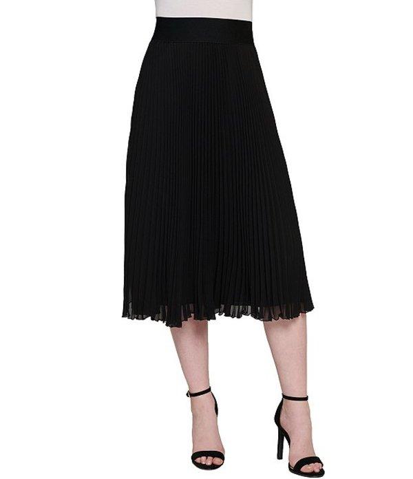 ピーター ナイガード レディース スカート ボトムス Georgette Pleated Midi Skirt Black