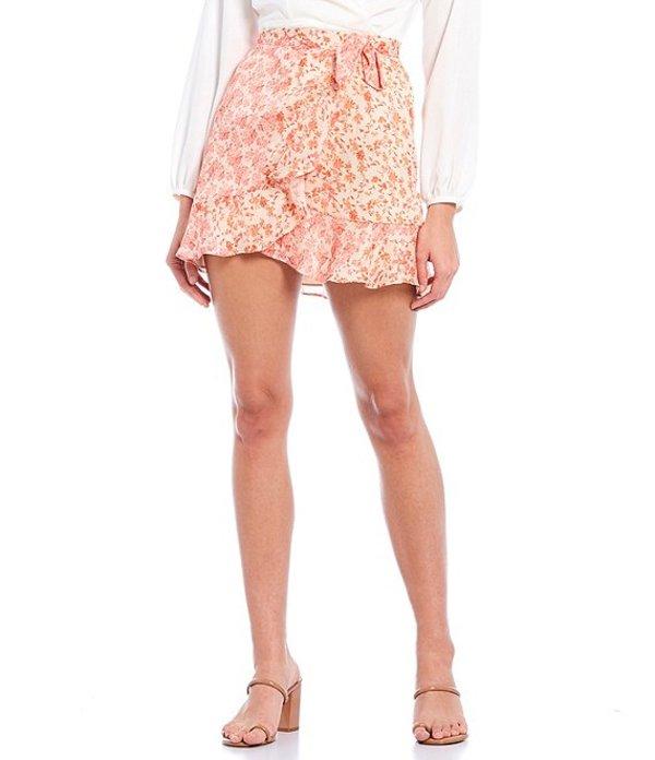 ジャンビニ レディース スカート ボトムス Paloma Ditsy Floral Print Wrap Ruffle Chiffon Skirt Ditsy Floral