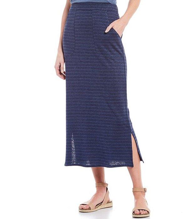 プラーナ レディース スカート ボトムス Tulum Midi Stripe Hemp & Organic Cotton Skirt Nickel