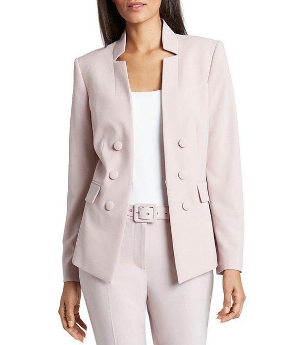 タハリエーエスエル レディース ジャケット・ブルゾン アウター Notch Collar Long Sleeve Bi-Stretch Double Breasted Jacket Pale Pink