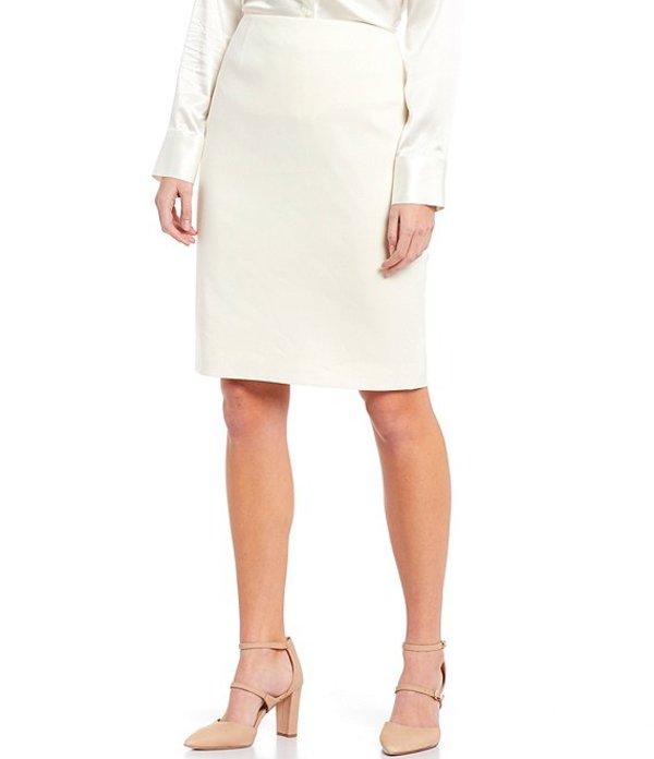アントニオ メラーニ レディース スカート ボトムス Hanson Stretch Suiting Pencil Skirt Ivory