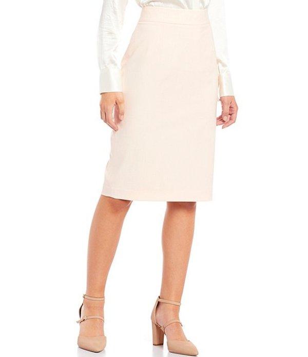 アントニオ メラーニ レディース スカート ボトムス Louise Stretch Crosshatch Suiting Pencil Skirt Pink Sand