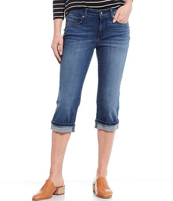 エヌワイディージェイ レディース カジュアルパンツ ボトムス Petite Size Marilyn Straight Leg Frayed Cuffs Capri Jeans Meloy